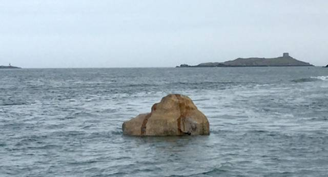 The new Dublin Bay 'rock' pictured off Dalkey this week