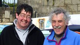 The late Arthur Rumball (left) with his brother Alistair in May 2015. Photo: W M Nixon