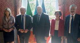 Minister Creed today [3rd May] met his French counterpart Stephane Travert, in Paris. Pictured along with Ministers Creed and Travert (centre) are Patricia O'Brien (left), Irish Ambassador to France, Catherine Geslain-LanÈele, Director General in Ministry for Agriculture, France and Aidan O'Driscoll, Secretary General, DAFM