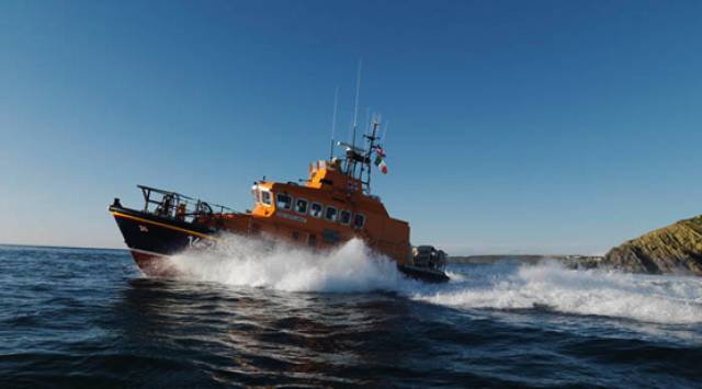 Ballycotton RNLI's all-weather lifeboat was on standby for yesterday's callout