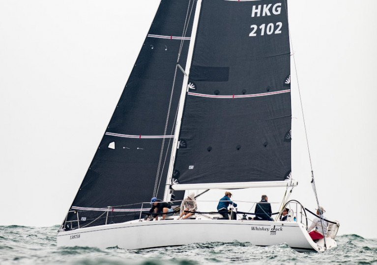 Nick Southward's J109, Whiskey Jack, sailing in last week's Hong Kong IRC Nationals
