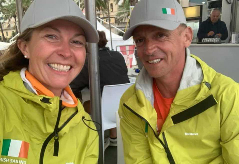 Susan Glenny and Conor Fogerty raced at the Eurosaf Mixed Offshore event in Italy