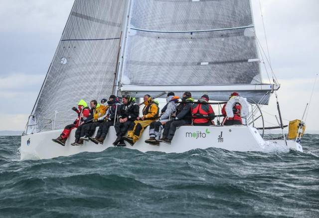 ISORA champions Peter Dunlop and Vicky Cox in the J109 Mojito