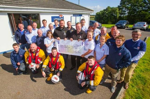 Loftus Hall present Fethard RNLI with a €12,000 donation towards a new lifeboat