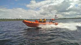 Lough Ree RNLI's lifeboat in action