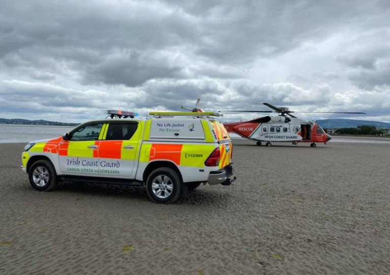 The Irish Coast Guard on the beach at Sandymount