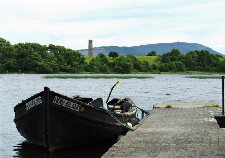 A boat for Holy Island on Lough Derg, Co Clare