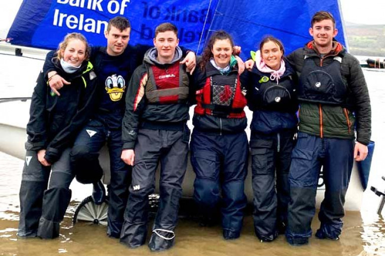 Team spirit: the winning UCD Firsts, skippered by Daniel Raymond, after their success at Killaloe