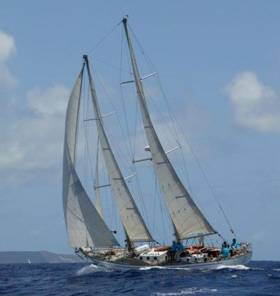 The Spirit of Oysterhaven is headed for Glandore with a crew of international friendship