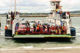 File photo of Frazer Aisling Gabrielle which launched the first ever car ferry route on Carlingford Lough almost two years ago in July, 2017.  The service linking counties Louth and Down this year experienced a busy period over the Easter bank holiday weekend.