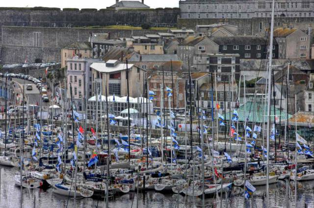 Rolex Fastnet Race fleet in Plymouth's Sutton Harbour