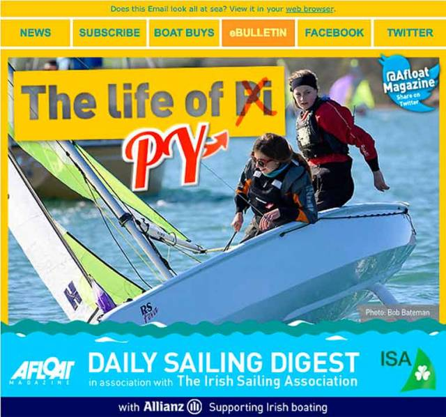 Sign up for Today's Irish Sailing & Boating News