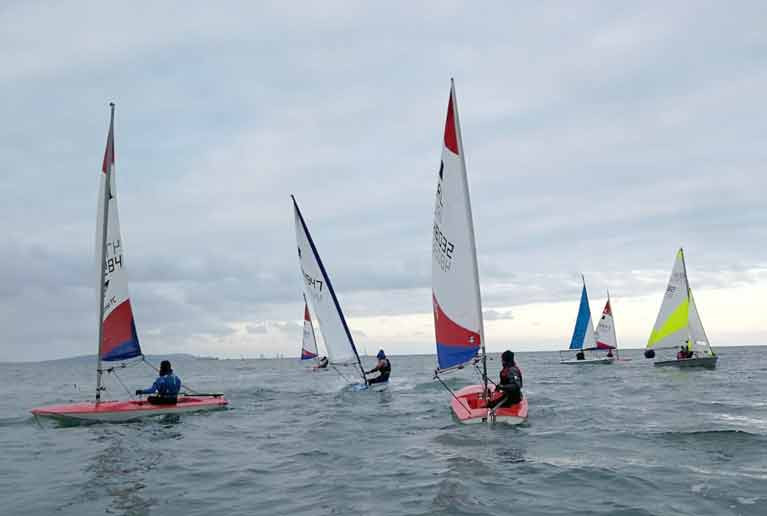 Ballyholme Yacht Club junior sailing in Bangor County Down