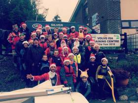 A festive group of Foynes sailors pictured during the open dinghy series on the Estuary