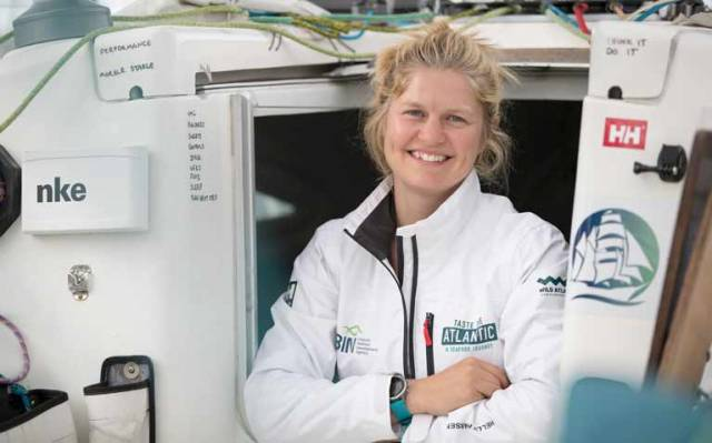 Joan Mulloy on her Figaro yacht 'Taste The Atlantic - A Seafood Journey'