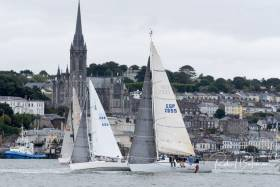 Cruiser racing in the Cobh to Blackrock Race in Cork Harbour