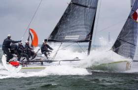 Lloyd Thornburg's Farr 280 FOMO won the HP30 Class in the Vice Admiral's Cup