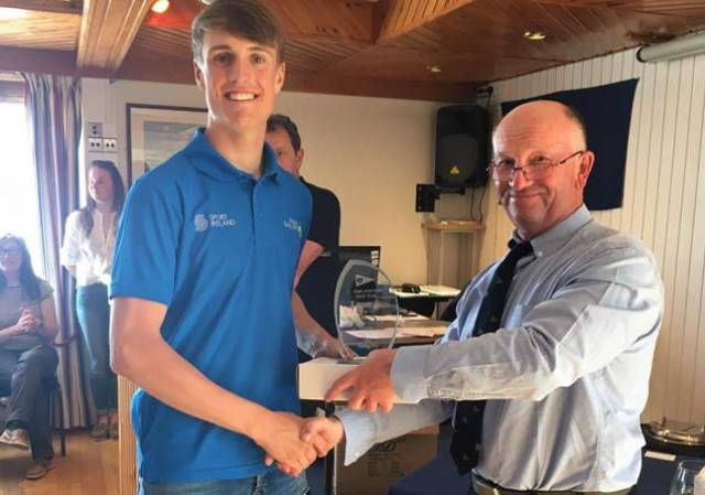 Howth's Jamie McMahon was the Radial class winner. Scroll down for more prizegiving photos