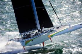 Round Ireland record holder Phaedo3, Lloyd Thornburg's MOD70 is in action in the Caribbean