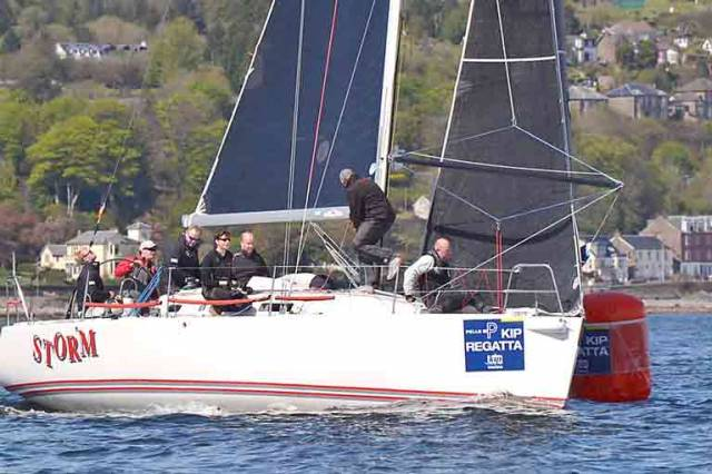 The Kelly family's J/109 Storm (Howth YC and Rush SC) firmly in control for overall victory at the recent Kip Regatta in Scotland