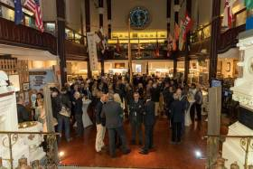 The assembled crowd of sailors, sponsors and volunteers attending the official launch of Volvo Dún Laoghaire Regatta 2019 at the National Maritime Museum of Ireland. Scroll down for photo gallery