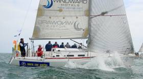 Volvo Round Ireland class three winner Euro Car Parks skippered by Dave Cullen of Howth. Read his race review below