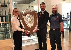 The DfT Rescue Shield is presented to Shetland-based coastguard teams for the sixth time