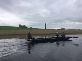 Rowing past Devenish Island
