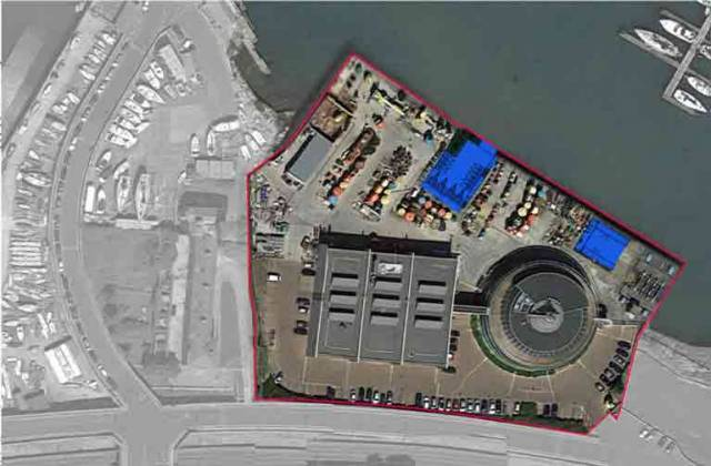 A new Irish Sailing 'Performance Headquarters' (areas in blue) is to be located in the Commissioners of Irish Lights, Dun Laoghaire