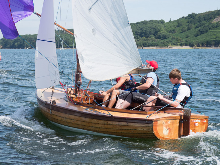 Mermaid dinghy sailing in Cork Harbour at the 2019 National Championships