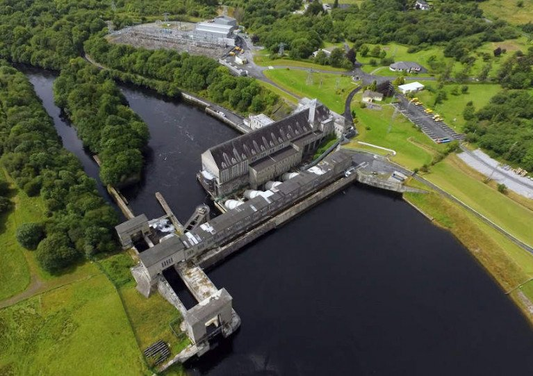 Ardnacrusha power plant on the River Shannon