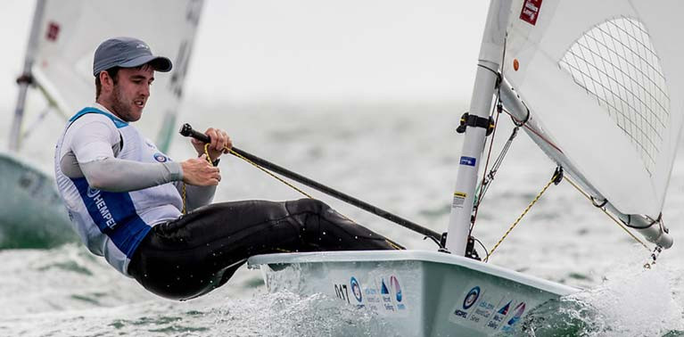 Finn Lynch is one of three Irish sailors still seeking one of two final Laser berth for Tokyo 2021