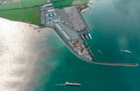 Artist's impression of the proposed deepwater port north of Balbriggan, Co Dublin