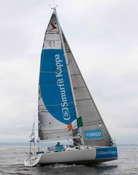 Tom Dolan's Figaro 2 Smurfit Kappa is currently among the front-runners in Stage 3 of the Figaro Solo