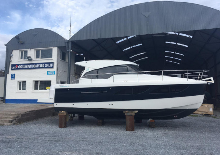 The new Rodman Spirit 31 at Crosshaven Boatyard
