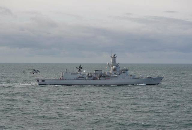 The Belgium Navy's frigate BNS Louise-Marine (F931) one of three European naval visitors that are today to arrive in Dublin Port and remain over the May Bank Holiday weekend.