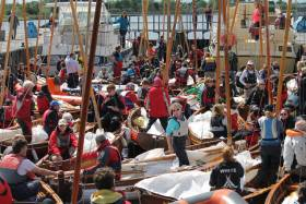 The SOD's long distance race on the River Shannon is reputed to be the longest inland dinghy sailing race in the world and this year attracted a record fleet for a special celebration