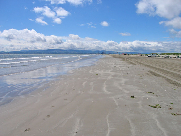File image of Dollymount Strand, where a local man says the rubber-like spheres have been appearing in increasing numbers