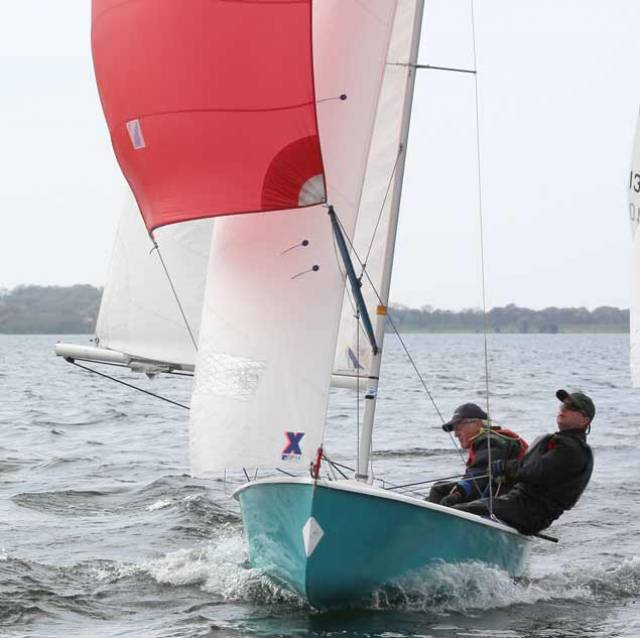 Mullingar SC Fleet Captain Michael Collender and Hon. Treasurer Brian Walker are into GP 14 racing on Lough Owel