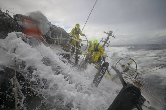 Team Brunel take a dunking en route from Gothenburg to The Hague yesterday, Saturday 23 June
