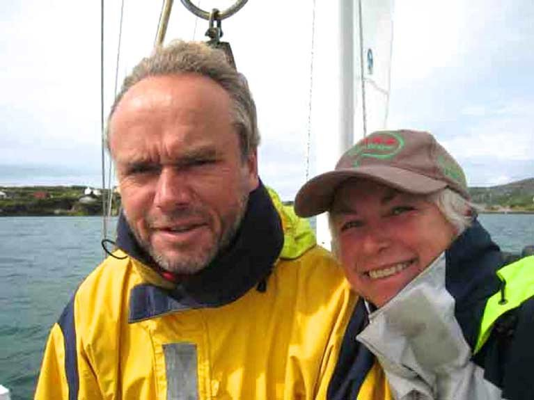 Oceanic sailing experience personified – Alex and Daria Blackwell have been providing advice and assistance from their base on the shores of Clew Bay for long-distance voyagers caught in COVID-19 regulations