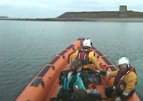 Skerries RNLI bring the woman and two children back to the mainland