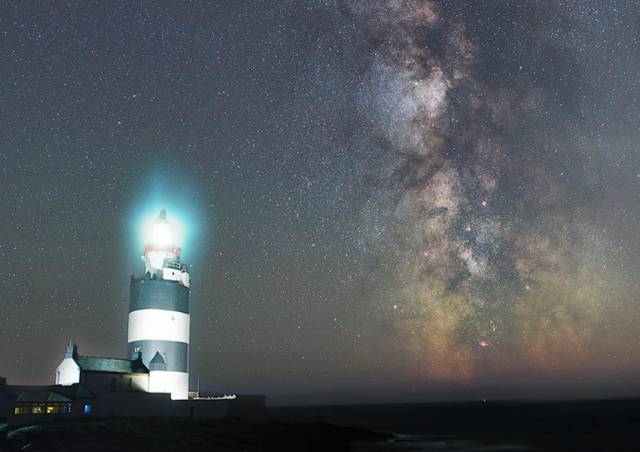 The Milky Way observed from Hook Lighthouse