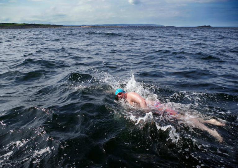 Northern Ireland Swimmers First To Cross Challenging Sea Route From Scotland To Giant's Causeway