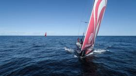 Dongfeng captured by drone with MAPFRE on the horizon