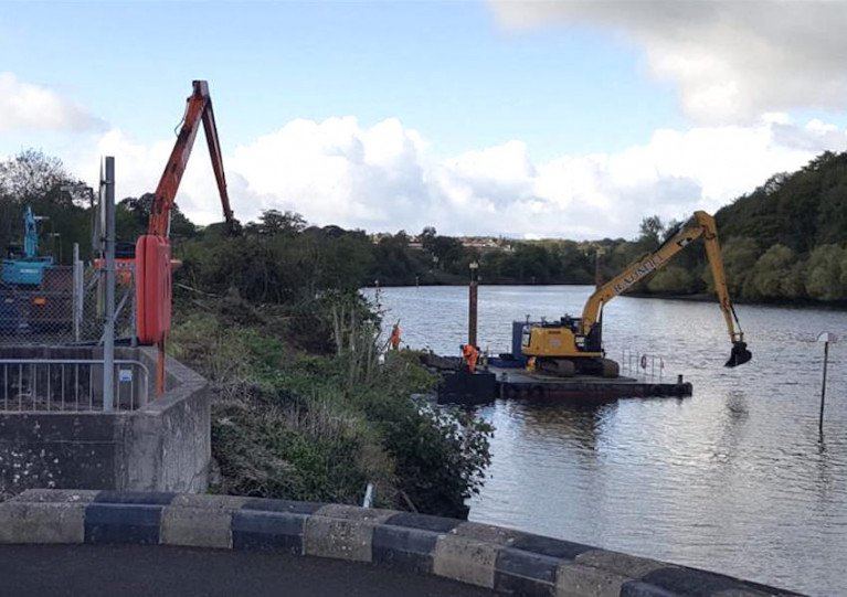 Dredging on the Lower Bann