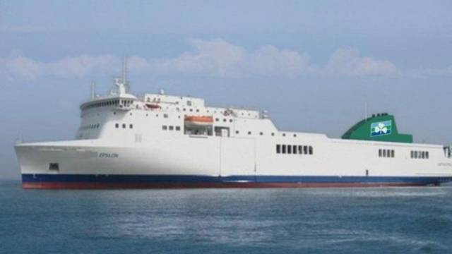 Stowaways: The men were found on board the Epsilon ferry, between Cherbourg and Dublin.