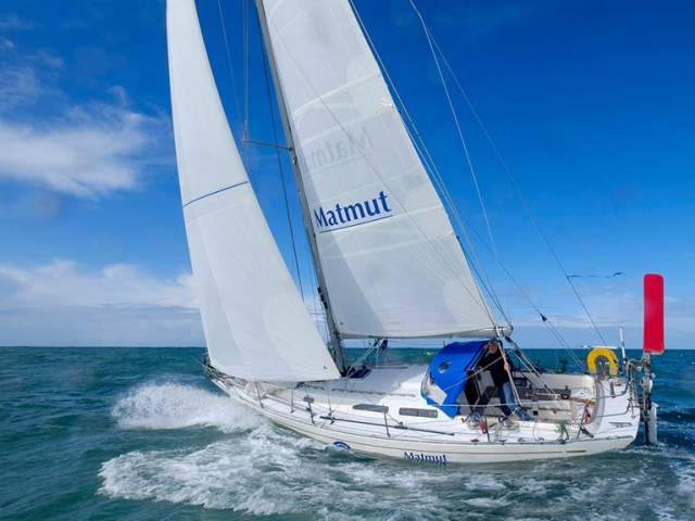 "Even with a damaged rig, Jean-Luc van den Heede's Rustler 36 Malmut (aka ""Little Snail"") now has a lead of more than 300 miles with just 700 miles to go to the finish of the Golden Jubilee Golden Globe Race."