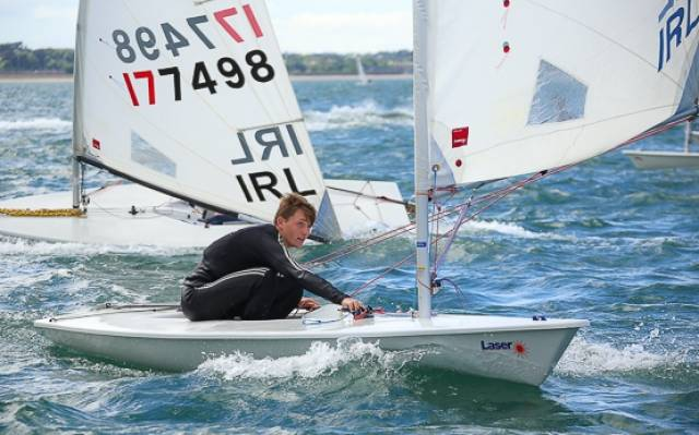 Royal Cork's Johnny Durcan was the Laser Radial division winner at the National Yacht Club today. See Photo Gallery below.