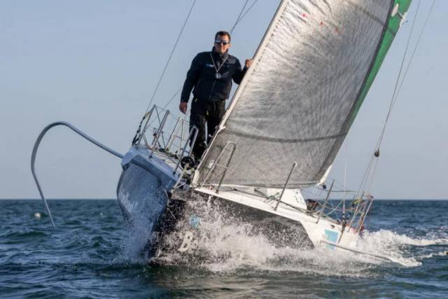 Tom Dolan had intended to sail his Figaro 3 Smurfit Kappa from Brittany to Dublin Bay for a two-week charity stint